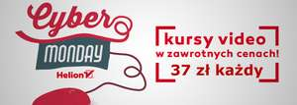 Cyber Monday: 150 videokursów Helion po 37 zł (np. Angielski IT) @ Helion