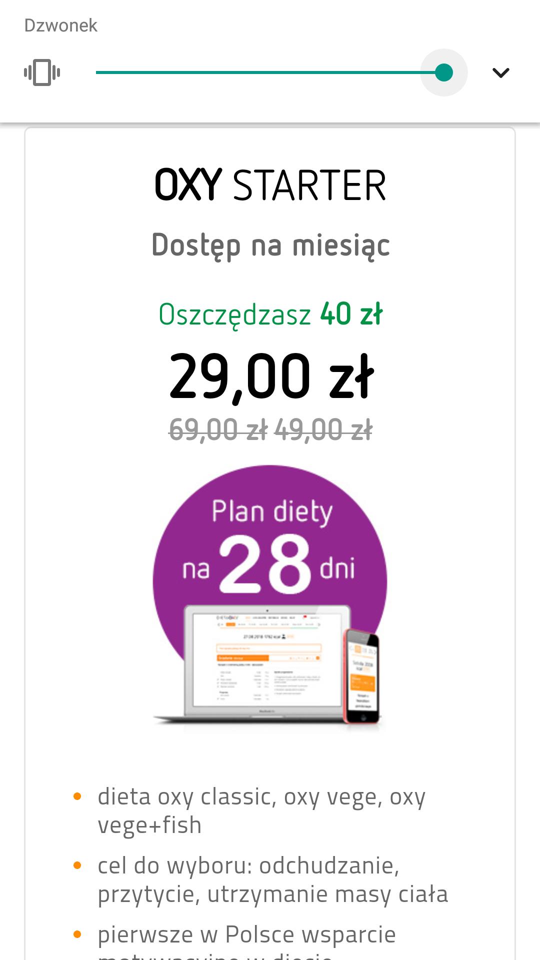 Cyber Monday - Dieta OXY w promocyjnej cenie !