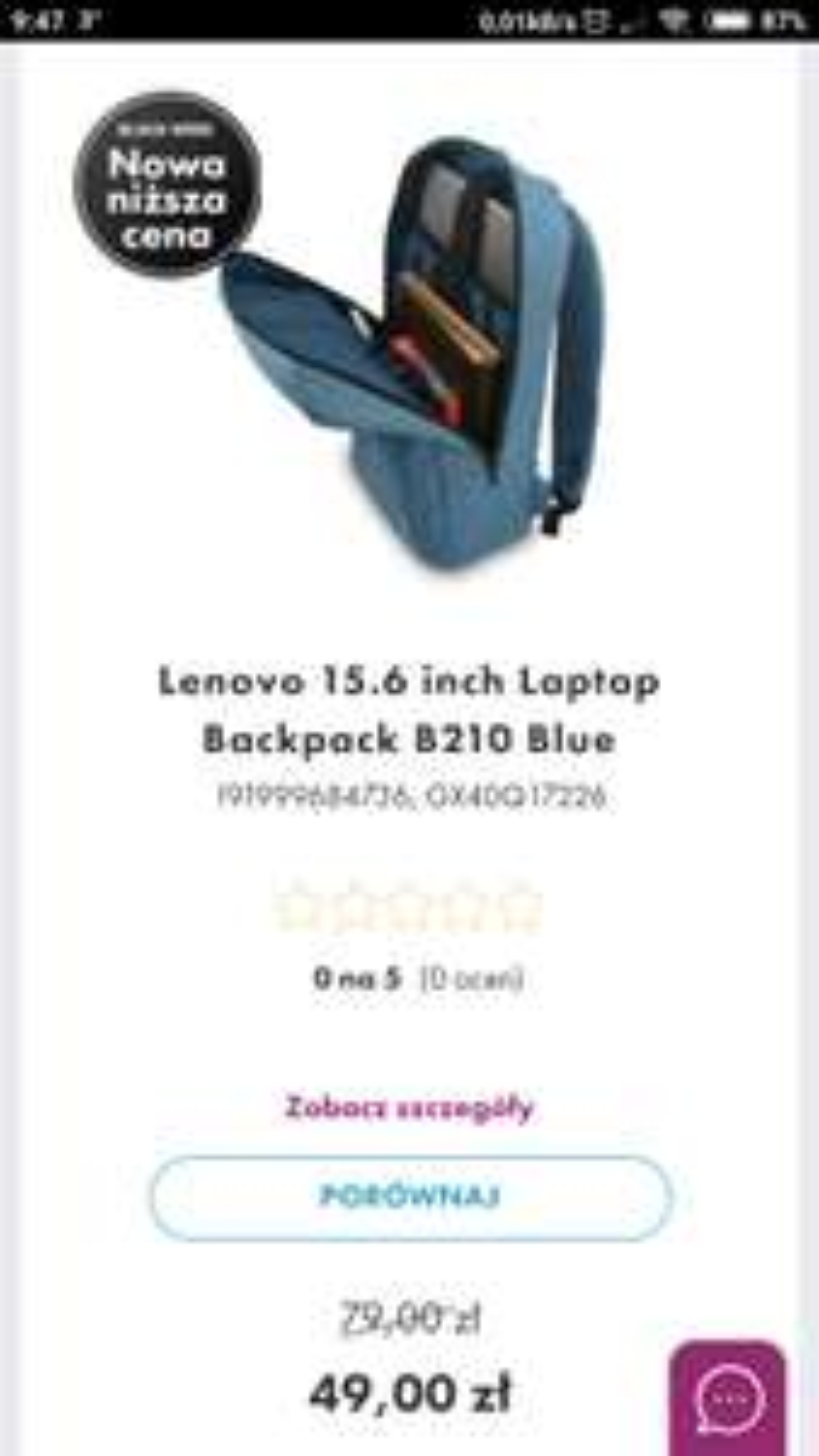 Plecak Lenovo B210 15.6'