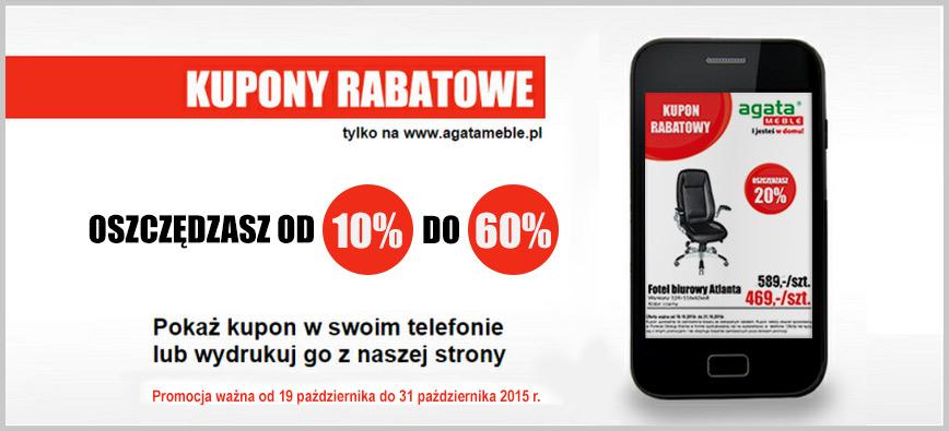 Kupony rabatowe - do 60% zniżki @ Agata Meble