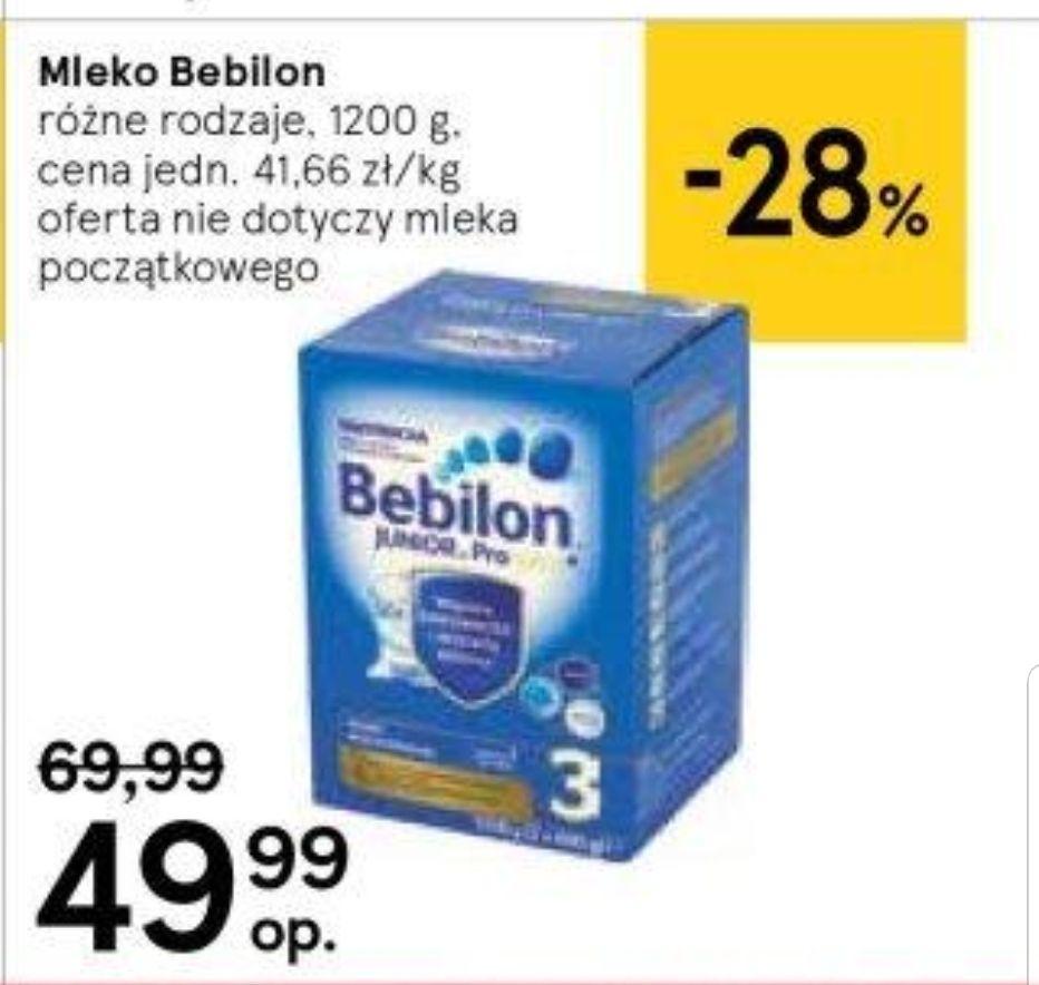 Mleko Bebilon 2,3,4,5 Tesco 49,99zł/1200g