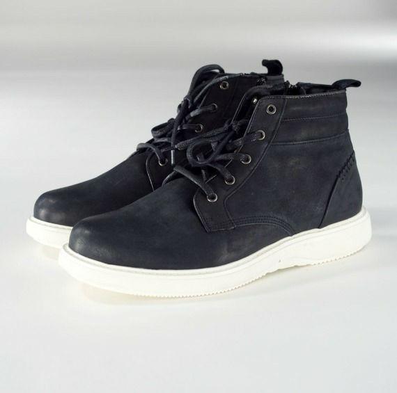 Buty skórzane Próchnik jesień/zima czarne