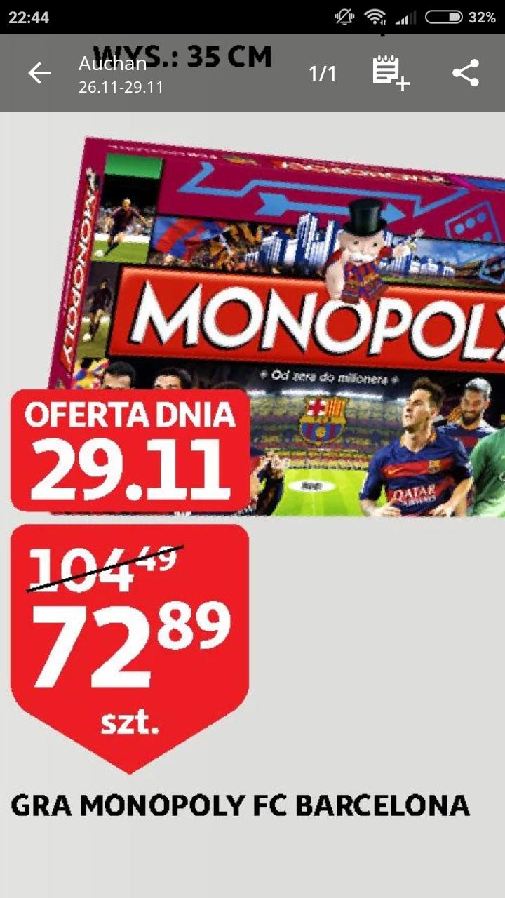 Monopoly FC Barcelona Auchan