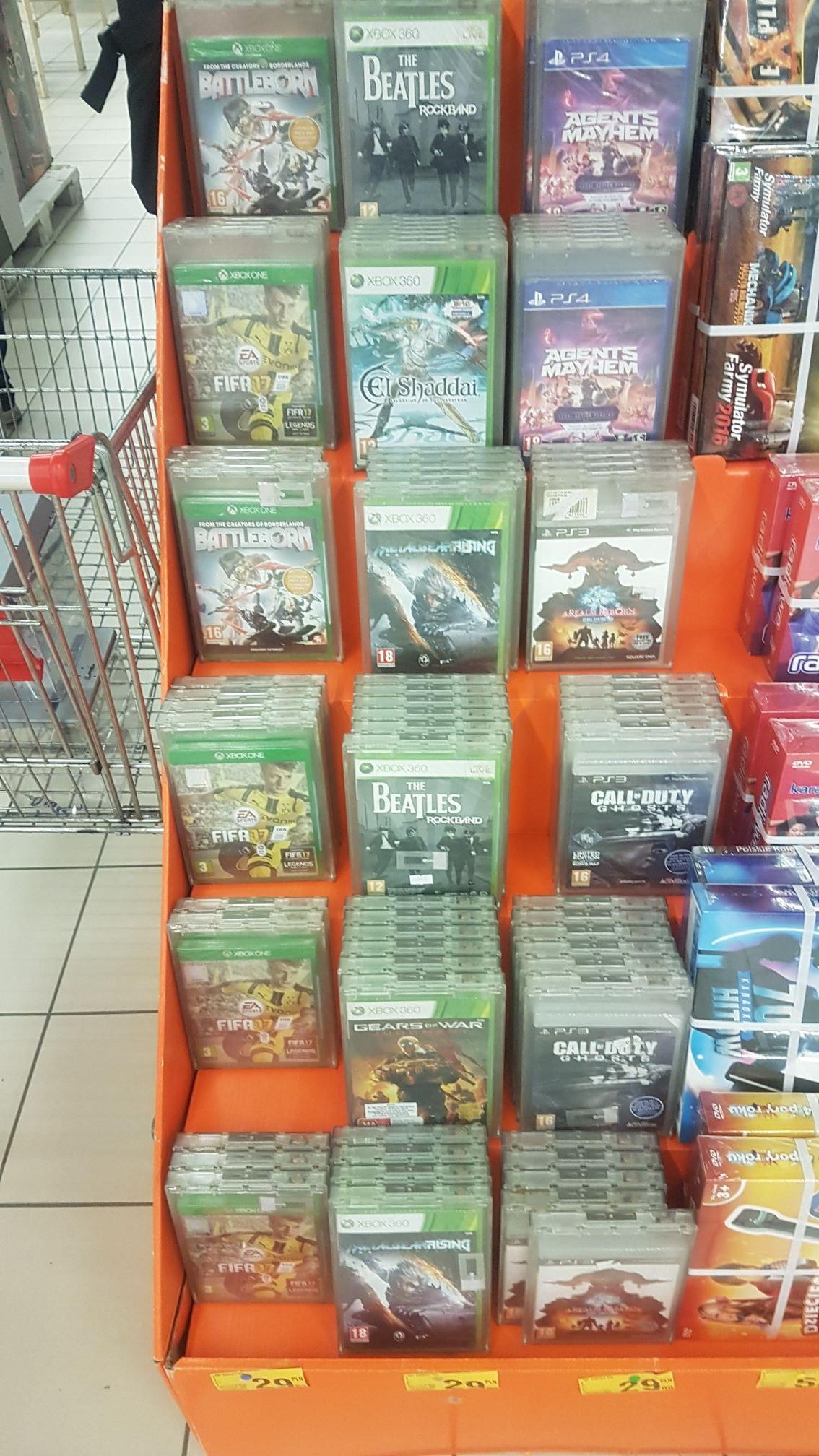 Battleborn, FIFA 17, Agents Mayhem Gry na Xbox One PS4 PS3 X360 @Auchan Bielany Wrocławskie