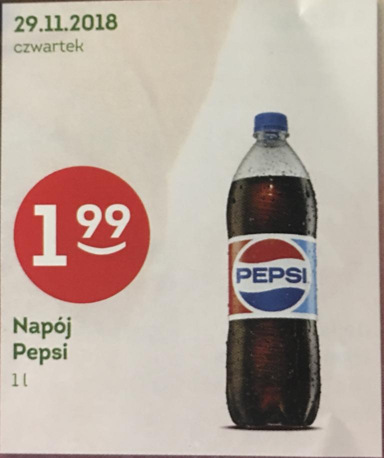 Pepsi 1l za 1.99 zł w sklepie Żabka [29 Listopada]