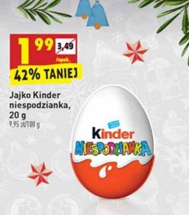 Biedronka - Jajko Kinder niespodzianka - 1,99 zł