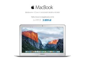 "Apple MacBook Air 13.3"" (Core i5 1.6GHz/4GB/128GB/Iris HD 6000) za 3899zł @ iSpot"