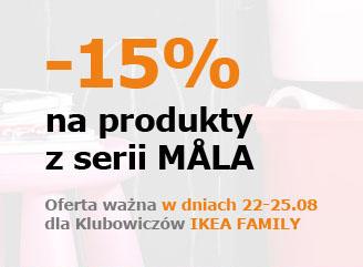 -15% na produkty z serii MALA @ IKEA