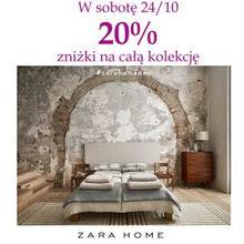20% rabatu na wszystko + darmowa dostawa @ Zara Home