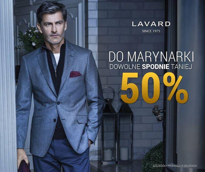 -50% na spodnie przy zakupie marynarki @ Lavard