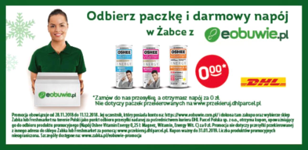 Odbierz paczkę i darmowy napój w Żabce z Eobuwie.pl