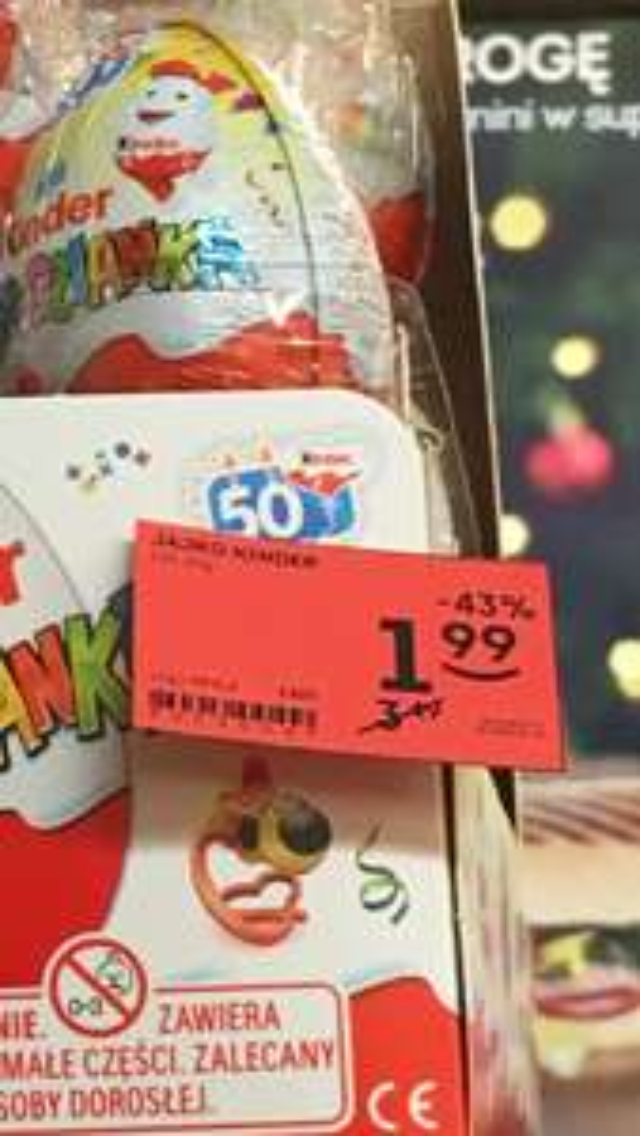 Kinder jajko za 1,99 zł w Żabce