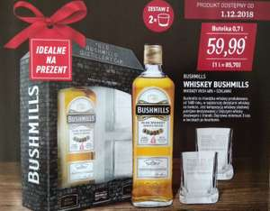Bushmills Irish Whiskey 700ml + szklanki Aldi