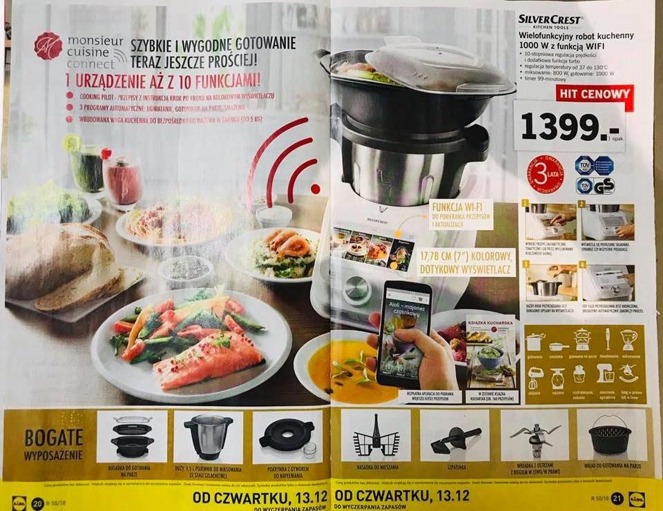 Monsieur Cuisine Connect - robot kuchenny 1000W z WIFI LIDL