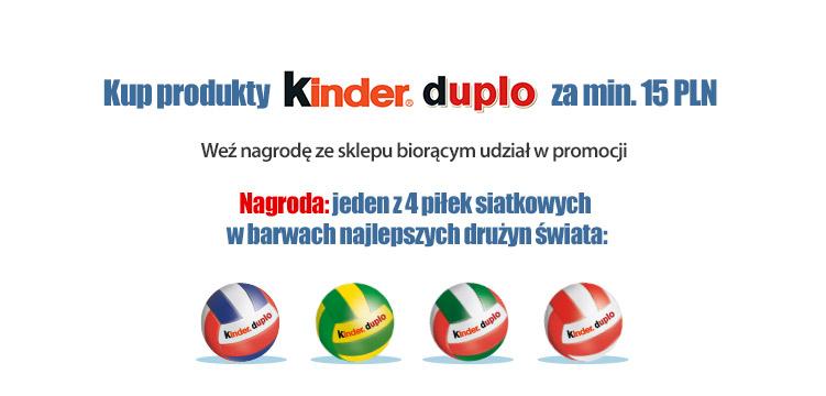 Piłki siatkowe za zakupy @ Kinder