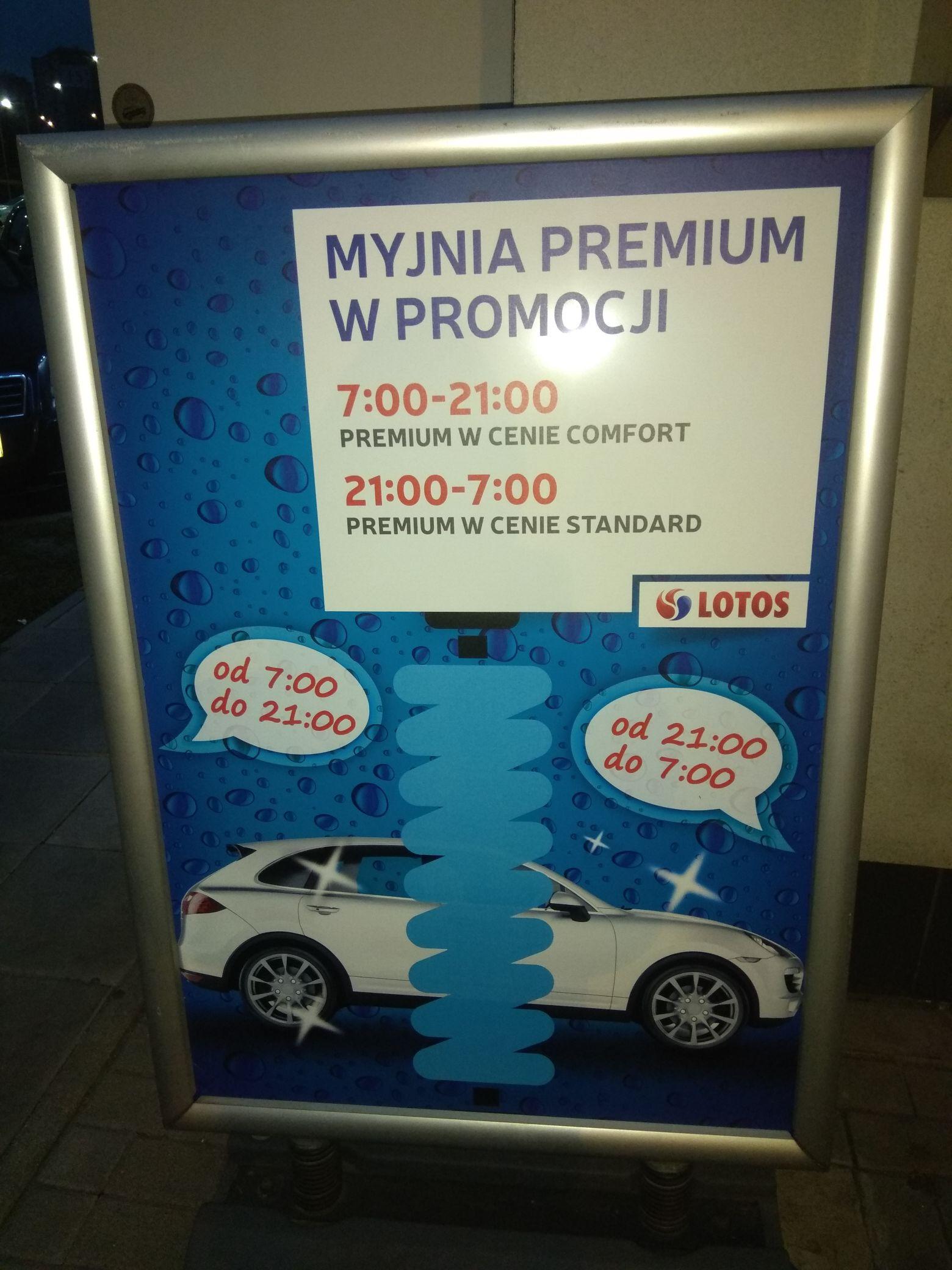 LOTOS - myjnia Premium w cenie Standard, Lublin