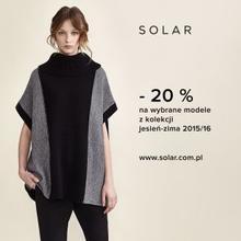 20% zniżki na nową kolekcję @ Solar