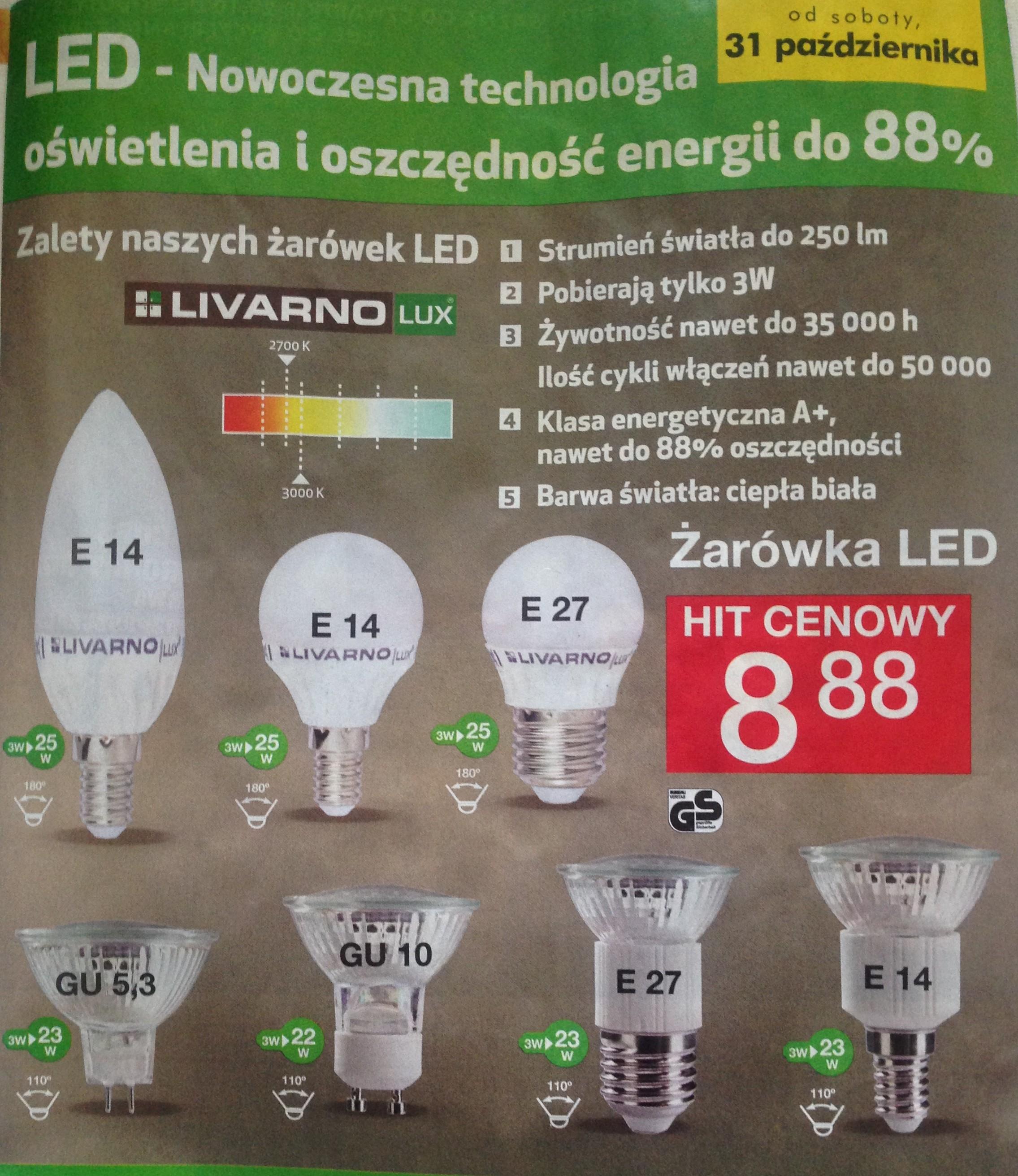 Żarówki LED - rózne rodzaje 8,88szt - LIDL od 31X