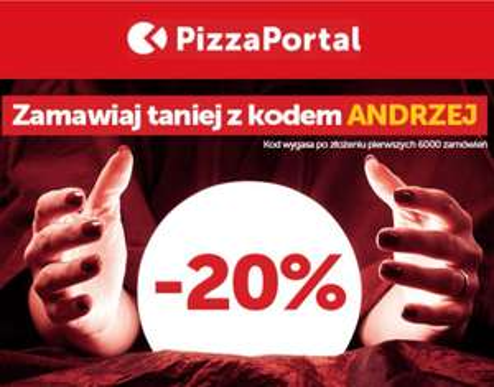 PIZZAPORTAL .PL kod rabatowy - 20% + darmowa dostawa Z BLIKiem