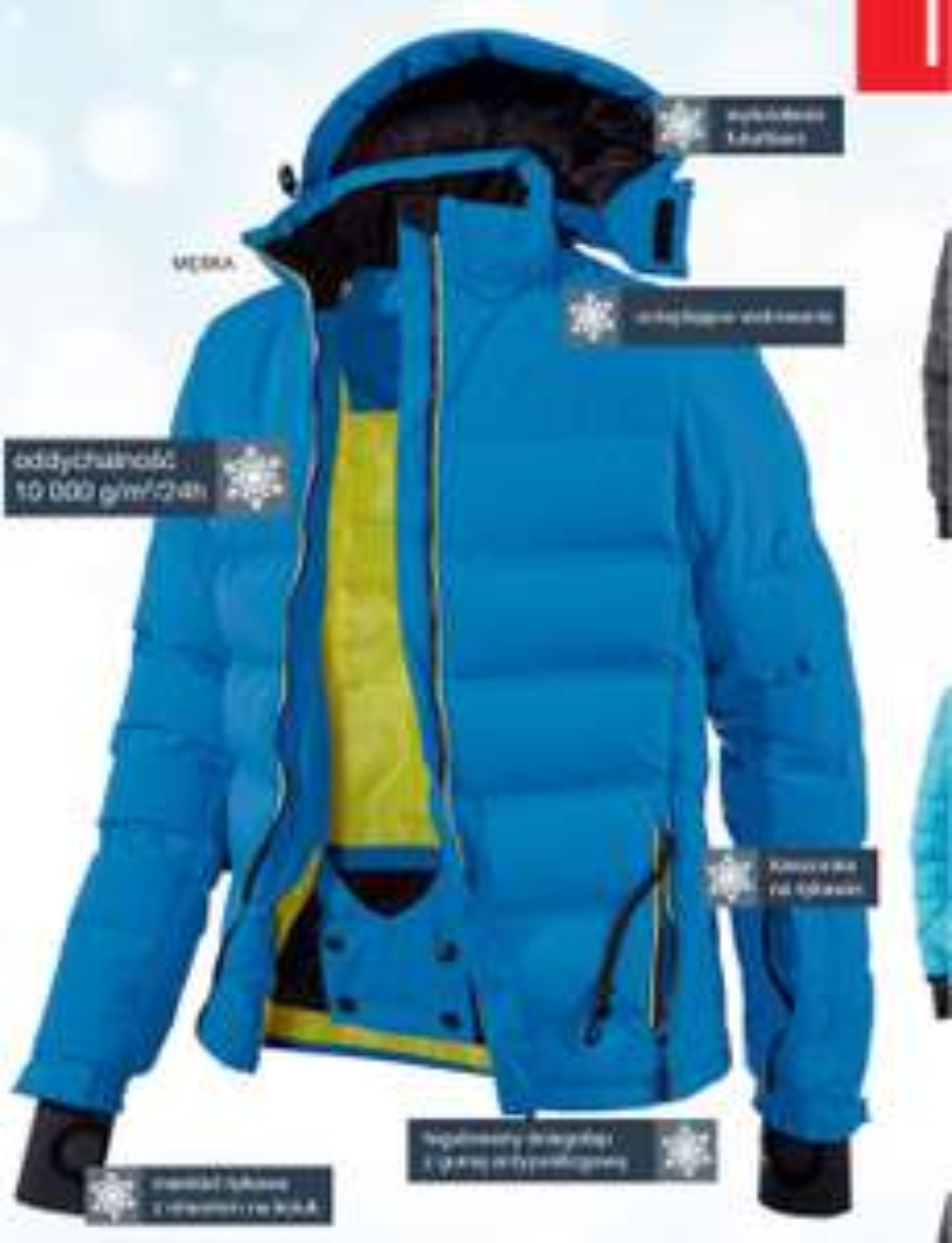 Kurtka narciarska męska,damska  10000 waterproof LIDL