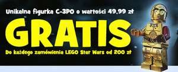 Przy zakupie klocków LEGO za min. 200zł figurka C-3PO GRATIS! @ Toys'R'Us