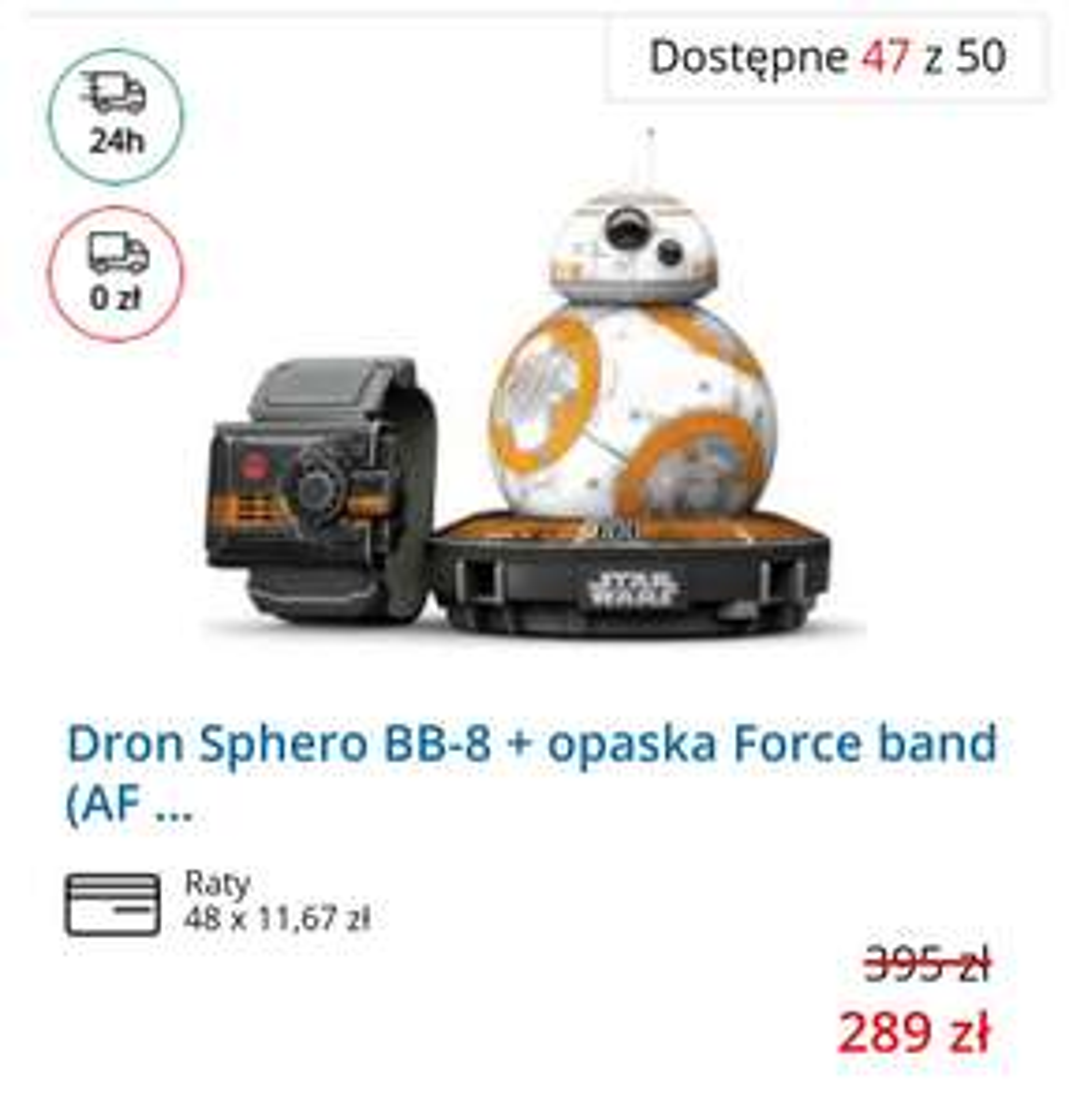 Sphero BB-8 + opaska Force band. Darmowa dostawa.