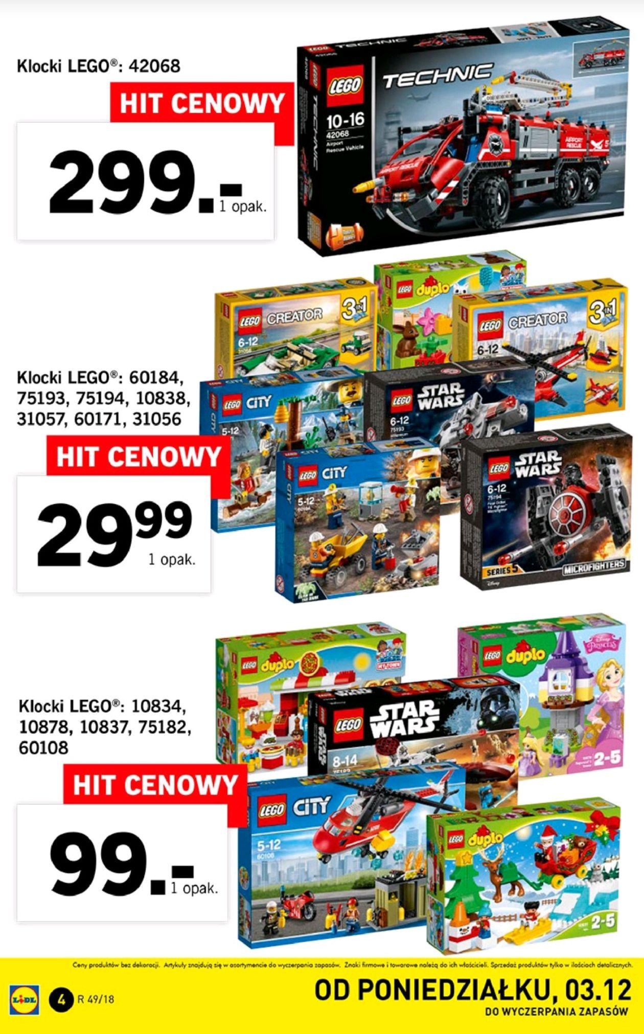 LEGO w LIDL-u od 29.99zł do 299 zł