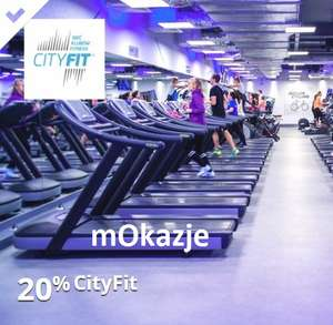 Zadbaj o formę w CityFit i odbierz 20% zwrotu - mOkazje mBank