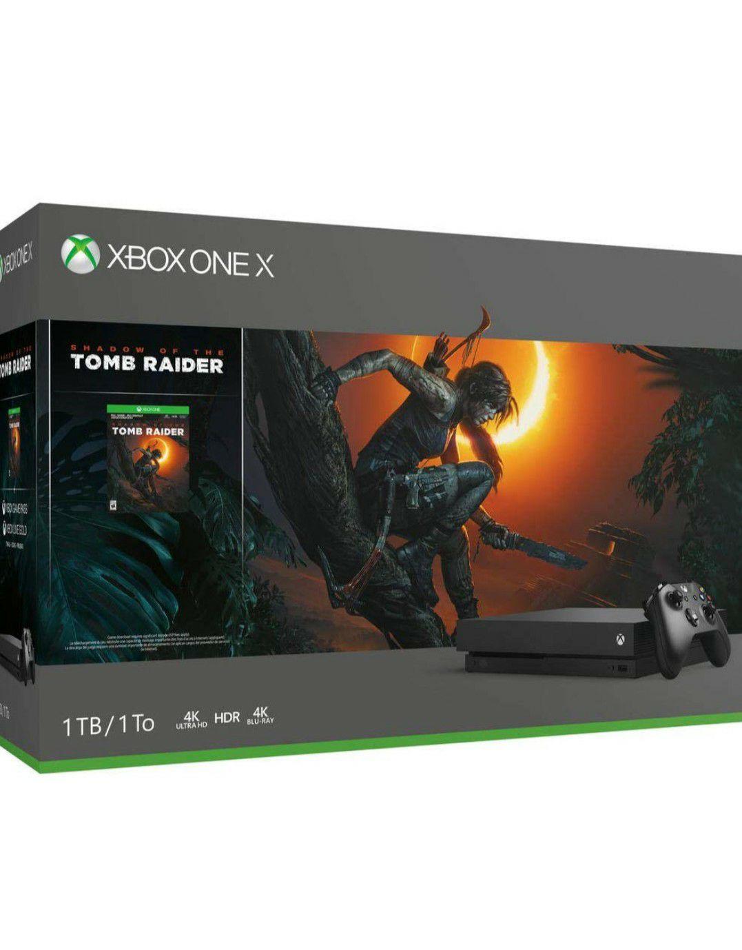 Xbox one X plus Tomb Raider Amazon fr