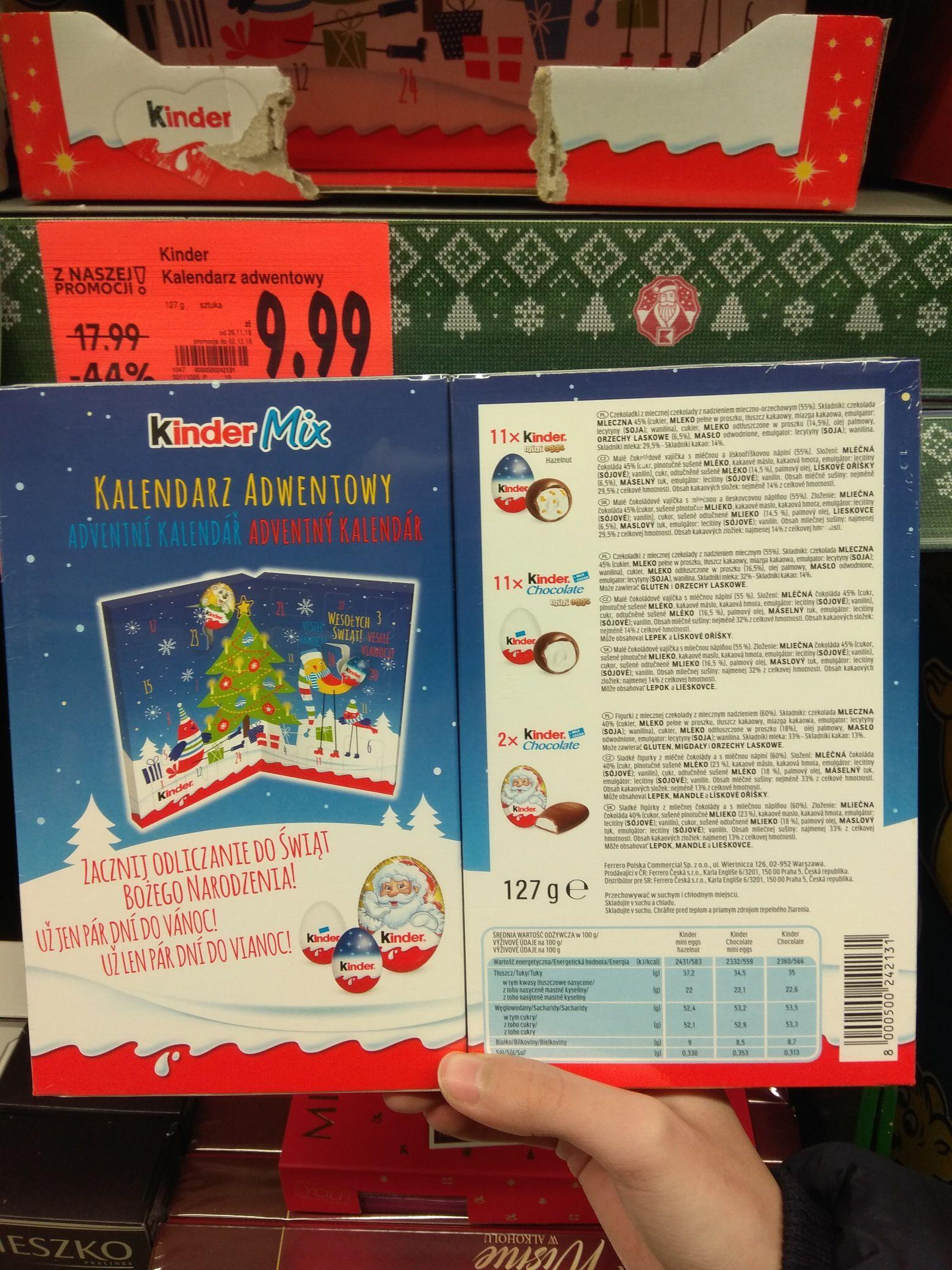 Kinder kalendarz adwentowy w Kauflandzie - oferta ogólnopolska