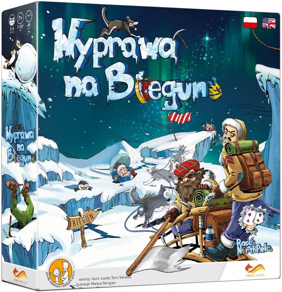 Wyprawa na biegun Gra planszowa Jouni Jussila Tomi Vanikka