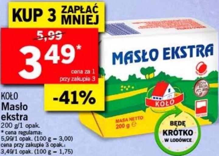 3x Masło Extra 82% Koło (3,49 zł za 1) @ Lidl