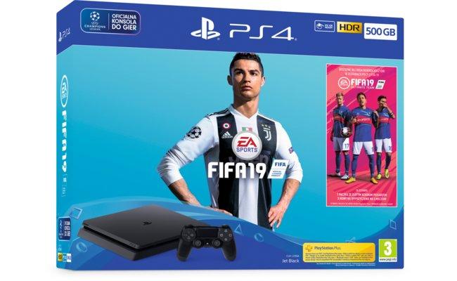 Konsola SONY PlayStation 4 Slim 500GB F Chassis + FIFA 19 + PlayStation Plus 14 dni