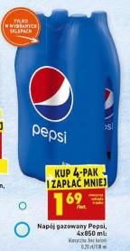 4-pak Pepsi, 1,69 zł/szt