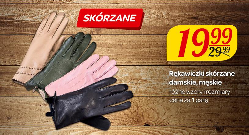 Skórzane rękawiczki damskie/męskie za 19,99zł @ Carrefour