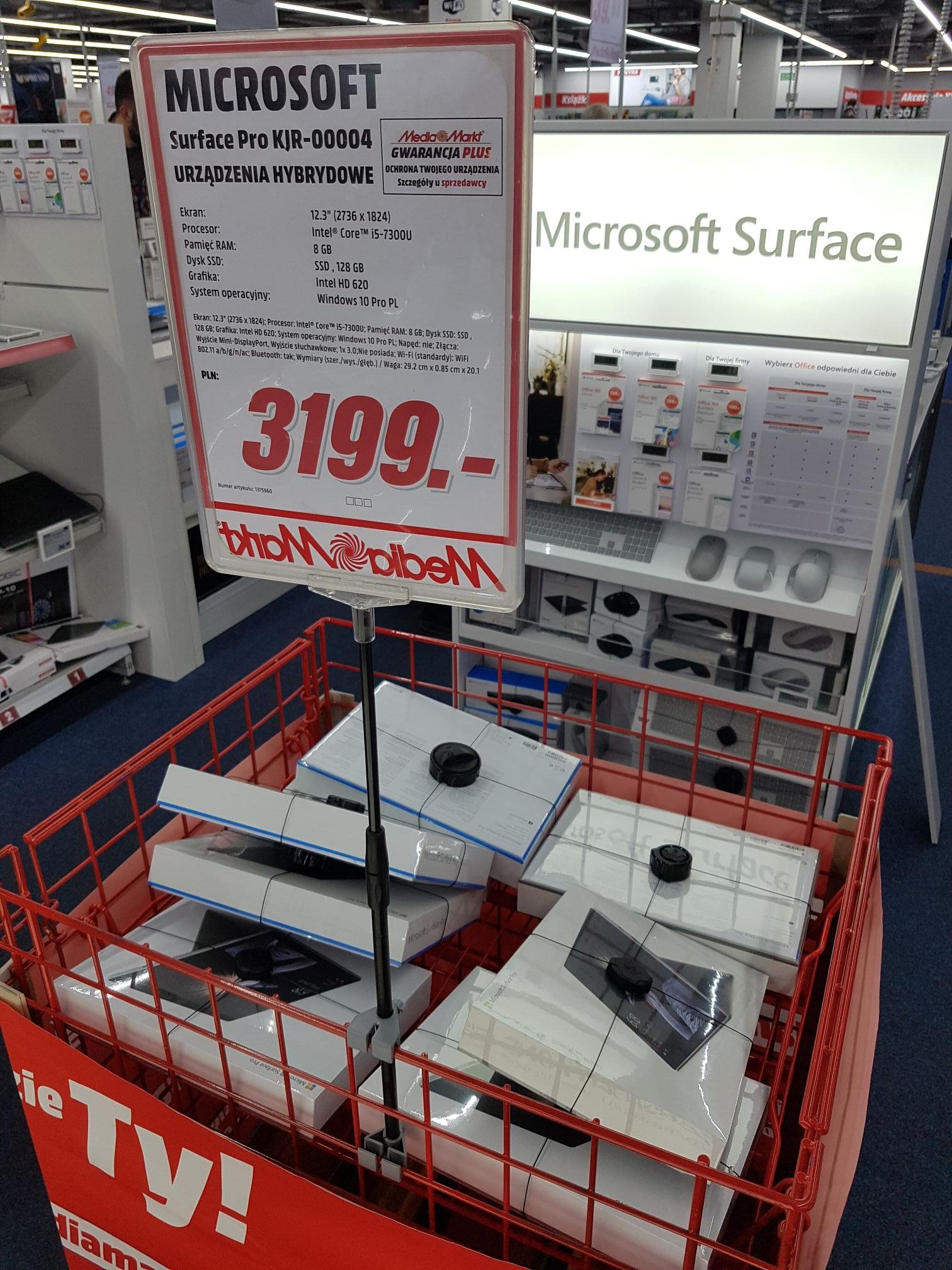"""Surface Pro 12.3"""" i5-7300U/8gb Ram/128gb ssd/bez klawiaturu Galeria Krakowska Lokalna"""