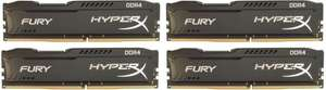 Kingston HyperX Fury Black 16GB (4x4GB) DDR4 2666MHz CL15 (HX426C15FBK4/16)