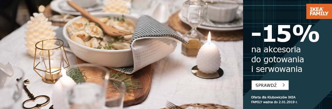 -15% na akcesoria do gotowania i serwowania @ Ikea