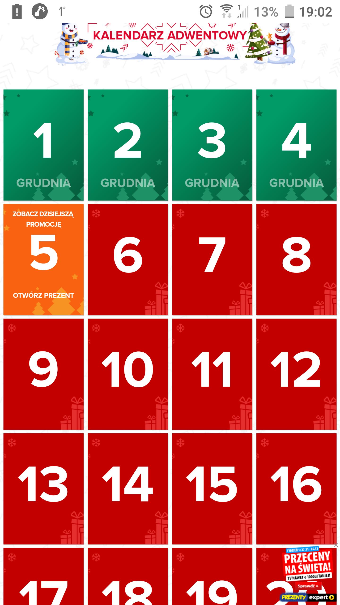 Kalendarz adwentowy Ceneo