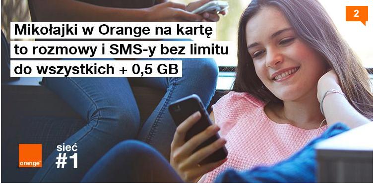 Rozmowy i SMS-y bez limitu + 0,5GB w Orange za darmo na 2 dni