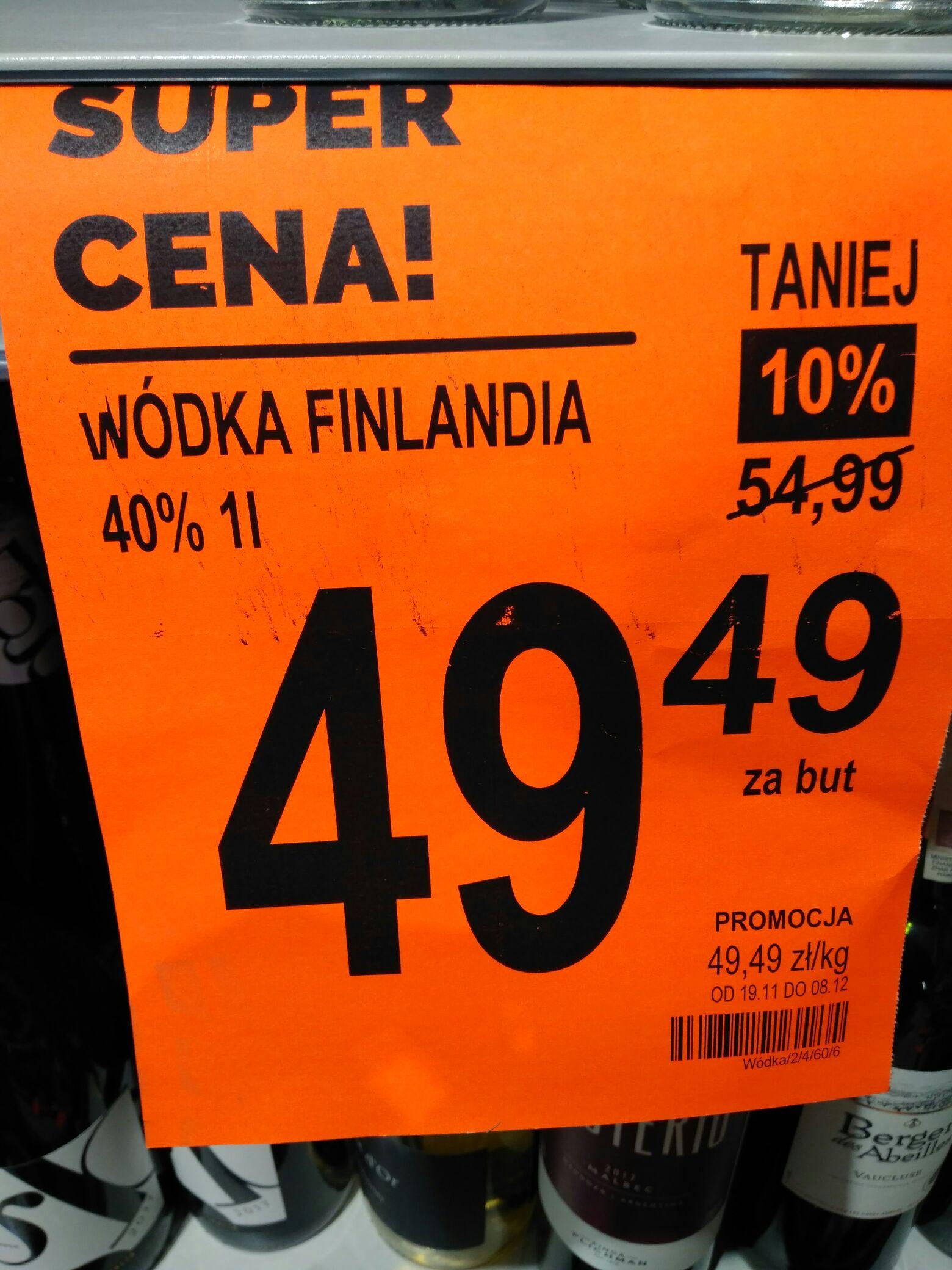 Wódka Finlandia 1L - Biedronka