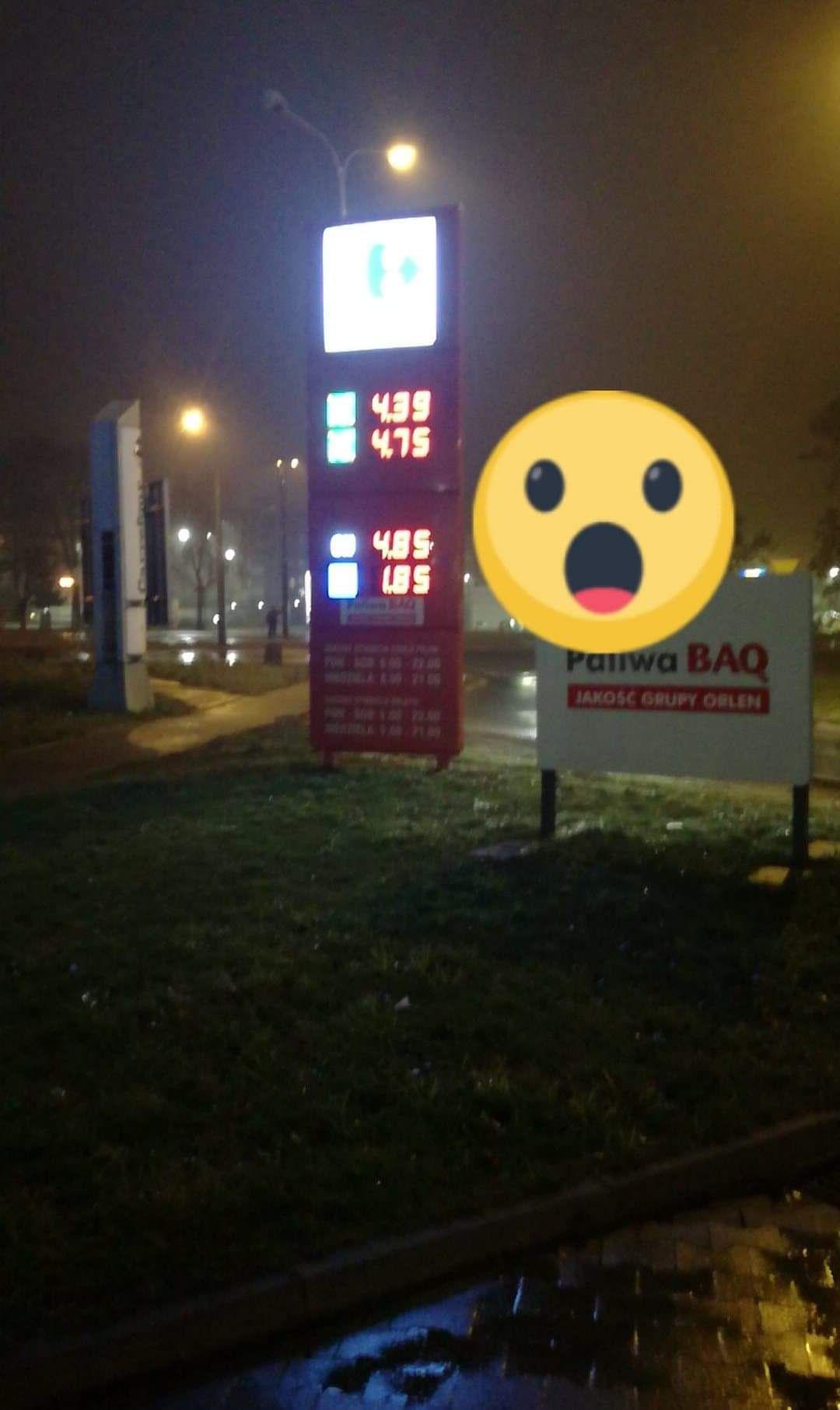LPG Auto gaz 1,85- Stacja paliw Carrefour Przybyszewskiego 176 Łódź