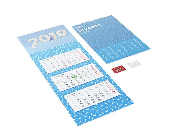Trzy rodzaje designerskich kalendarzy na rok 2019 za 1,03 zł