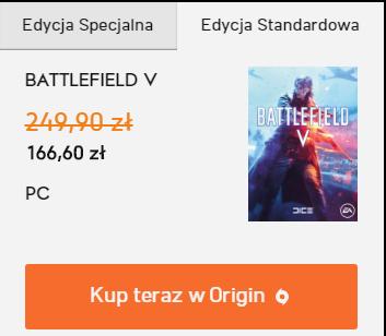 Battlefield V za 166,60 PC Origin