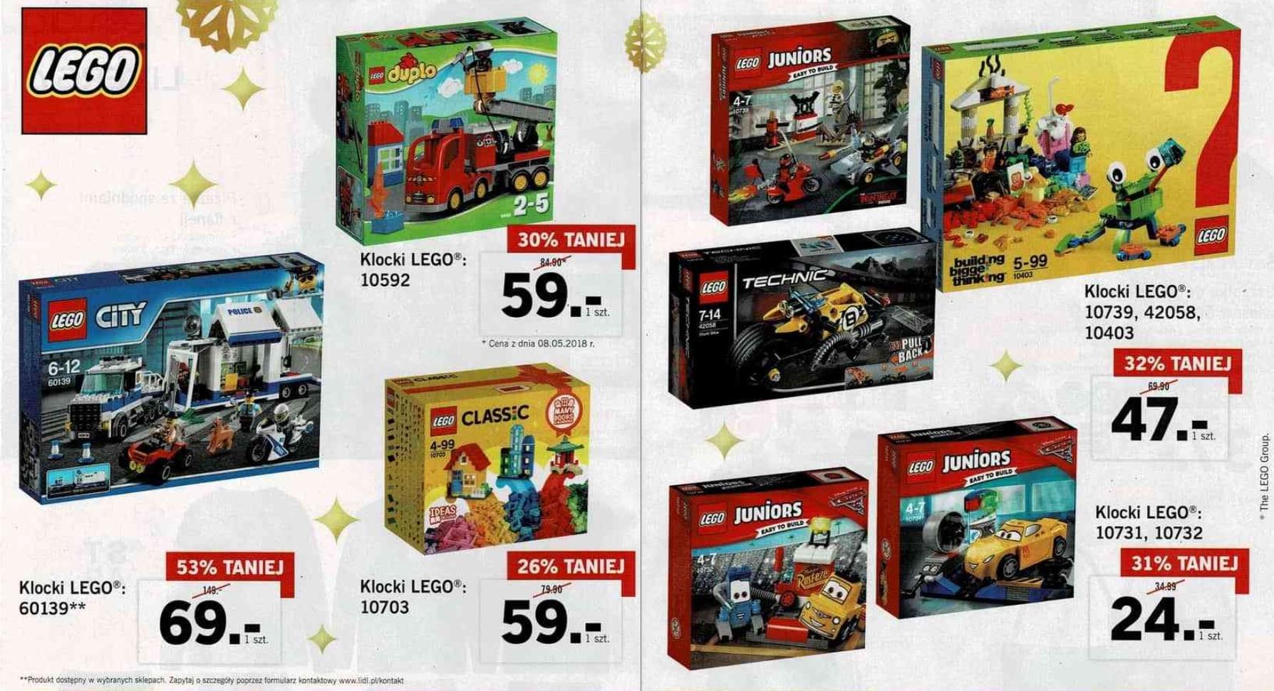 Klocki Lego do 53% taniej @ Lidl