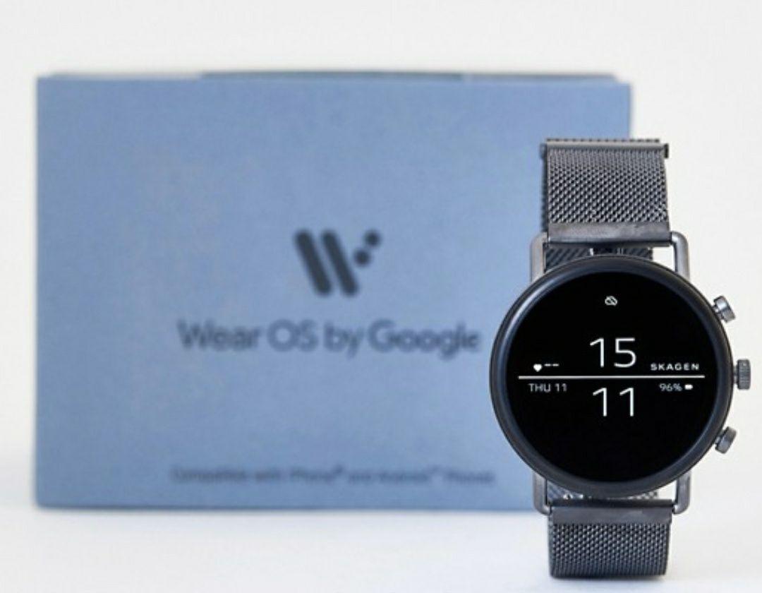 Skagen SKT5105 Falster 2 smoke mesh smartwatch