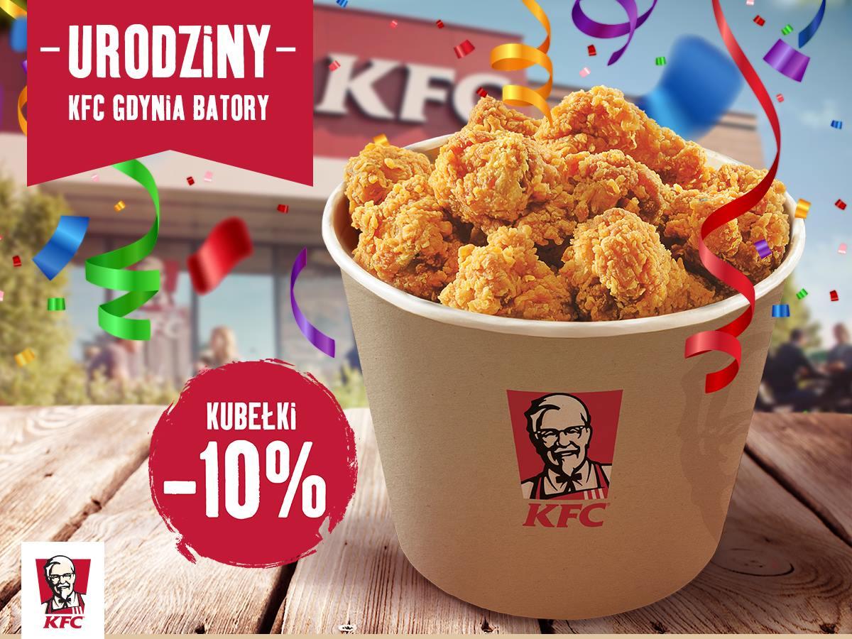 KFC -10% na wszystkie kubełki (Gdynia, Batory)