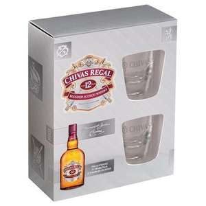 BOX: Chivas Regal 12YO 0,7 + 2 szklanki @ Auchan