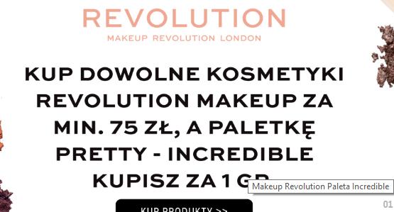 Paletka Makeup Revolution za 1 grosz przy zakupie produktu za 75zł