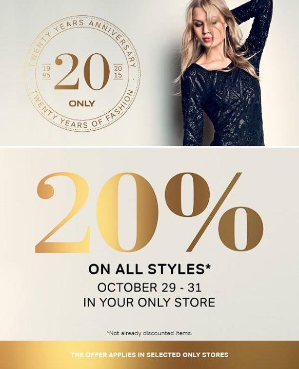 20% zniżki na wszystko @ Only